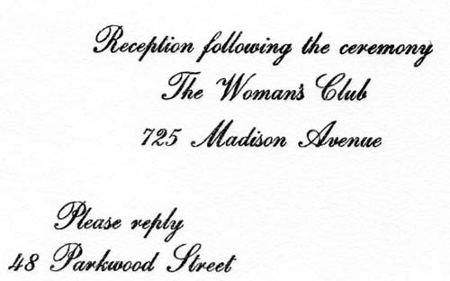 Invitation to the wedding